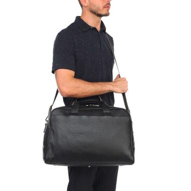 Кожаная дорожная сумка с плечевым ремешком Stevens