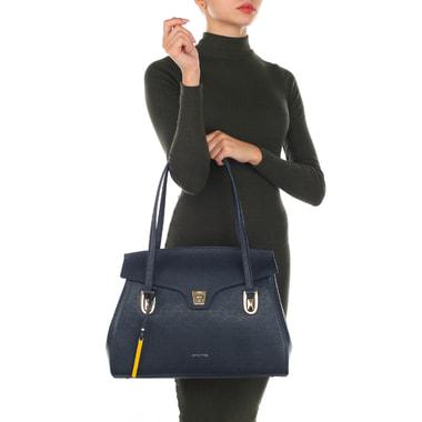 Вместительная сумка из сафьяновой кожи с длинными ручками Cromia