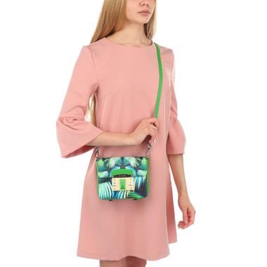 Женская кожаная сумочка с принтом Cromia