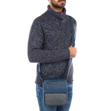 Маленькая мужская сумка из натуральной кожи Piquadro