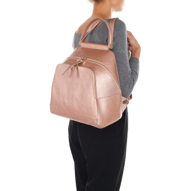 Вместительный женский рюкзак из натуральной сафьяновой кожи Aurelli