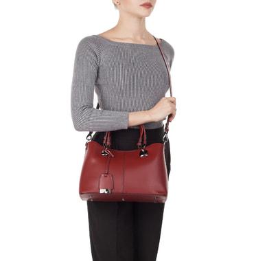 Красная женская сумочка из натуральной кожи Ripani