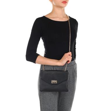 Женская кожаная сумочка кросс-боди на цепочке Coccinelle