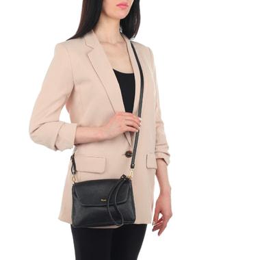 Женская черная сумочка с тремя отделами Bruno Rossi