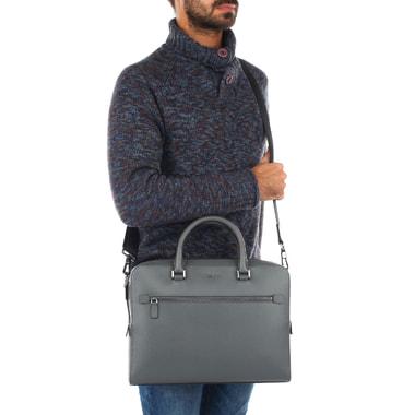 Мужская деловая сумка из натуральной сафьяновой кожи Michael Kors Men