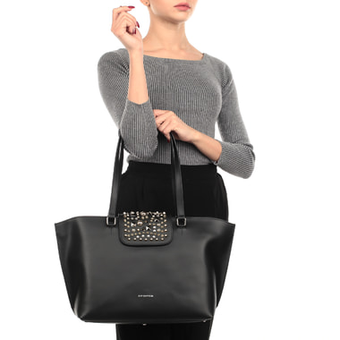 Вместительная кожаная сумка с длинными ручками Cromia