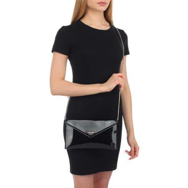 Женская лакированная сумочка с откидным клапаном Guess