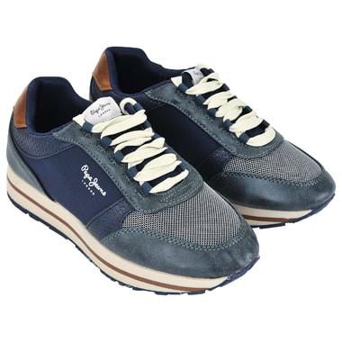 Женские комбинированные кроссовки на шнуровке Pepe Jeans London