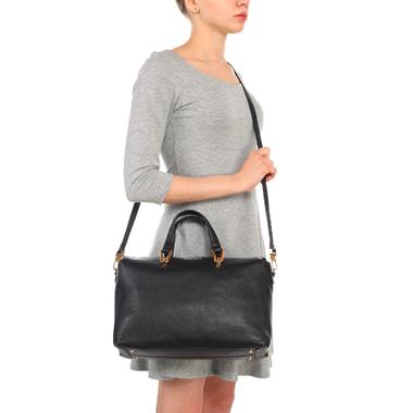 Вместительная женская сумка из натуральной кожи Coccinelle