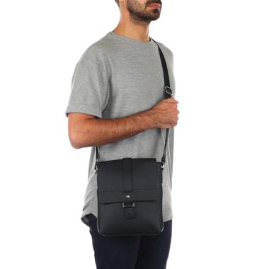 Мужская черная сумка через плечо Stevens