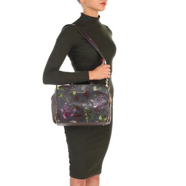 Женская кожаная сумка с цветочным узором Gilda Tonelli