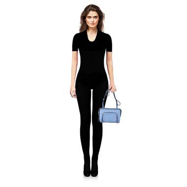 Женская кожаная сумка через плечо DKNY