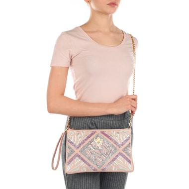 Женская кожаная сумочка с вышивкой Valentino Orlandi