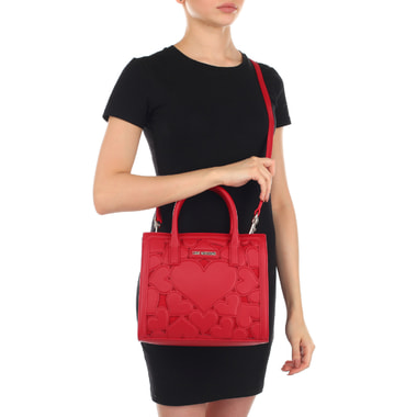Красная женская сумочка с плечевым ремешком Love Moschino