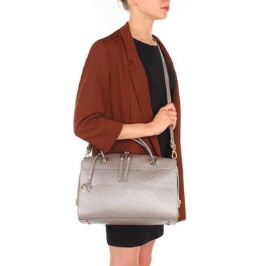 Женская сумка из сафьяновой кожи с замшей Carlo Salvatelli