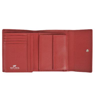 Женское кожаное портмоне красного цвета Braun Buffel