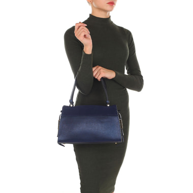 Женская сумка из натуральной сафьяновой кожи и замши Carlo Salvatelli