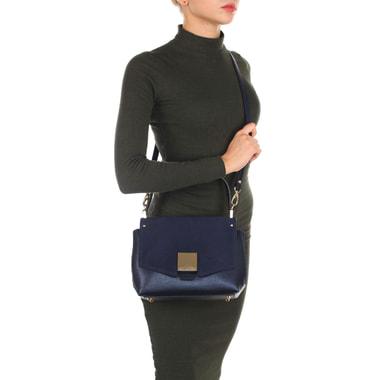 Женская сумка из комбинации сафьяновой кожи и замши Carlo Salvatelli