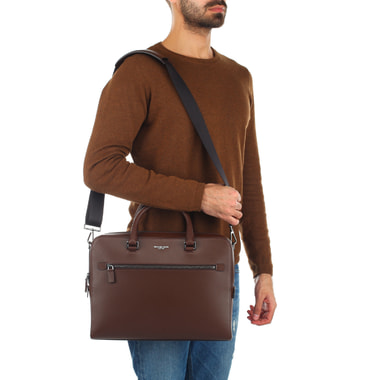 Мужская деловая сумка из сафьяна Michael Kors Men