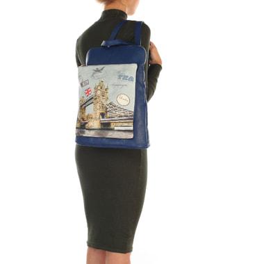 Женский кожаный рюкзак с принтом Acquanegra