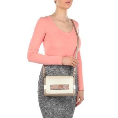 Женская комбинированная сумочка из кожи Carlo Salvatelli