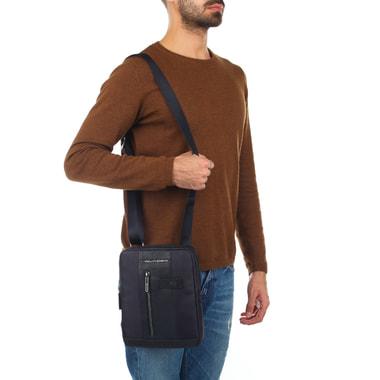 Мужская комбинированная сумка-планшет через плечо Piquadro