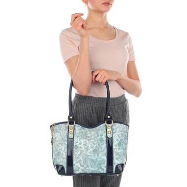 Кожаная женская сумка с принтом Marino Orlandi
