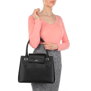 Женская черная сумка с боковыми кнопками Chatte