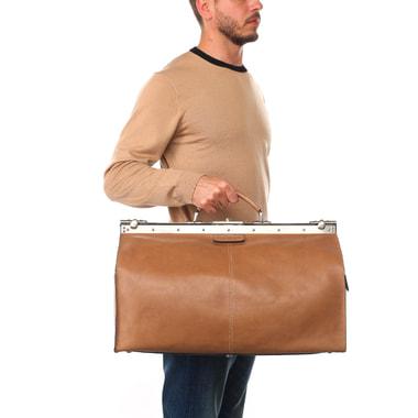 Винтажная кожаная сумка-саквояж Picard