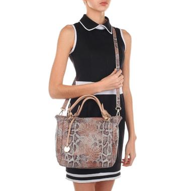 Кожаная женская сумка с отделкой под кожу питона Sara Burglar