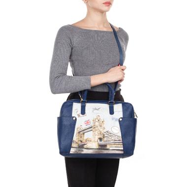 Женская кожаная сумка с принтом Acquanegra
