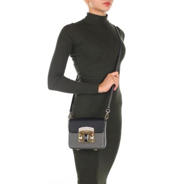 Маленькая сумочка кросс-боди из натуральной сафьяновой кожи Cromia