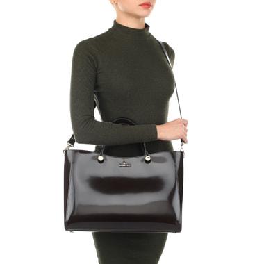Вместительная кожаная сумка с плечевым ремешком Aurelli