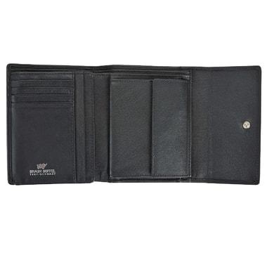 Женское кожаное портмоне черного цвета Braun Buffel