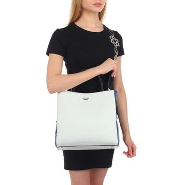 Вместительная женская сумка с тремя отделами Guess