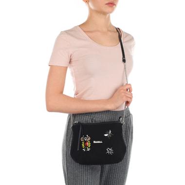 Женская комбинированная сумочка со стразами Marina Creazioni