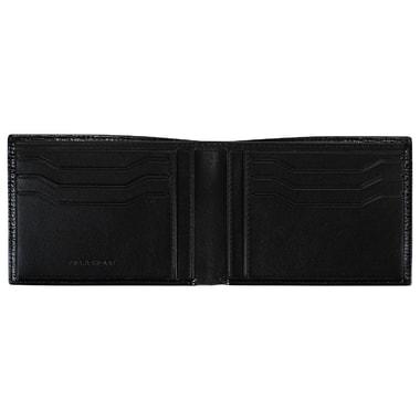 Складное мужское портмоне из черной кожи Mayrhoff