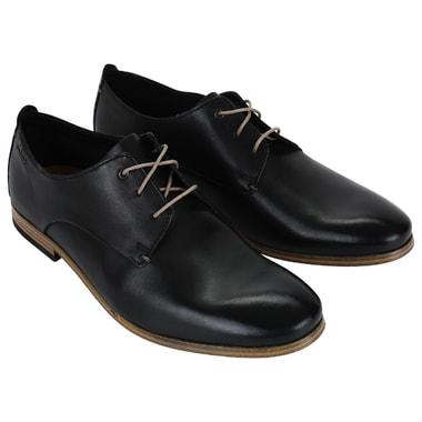 Мужские кожаные полуботинки черного цвета Clarks