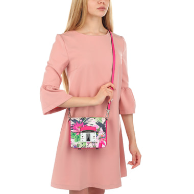 Женская сумочка с цветочным принтом Cromia