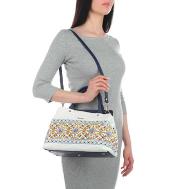 Женская кожаная сумка с узором Marina Creazioni
