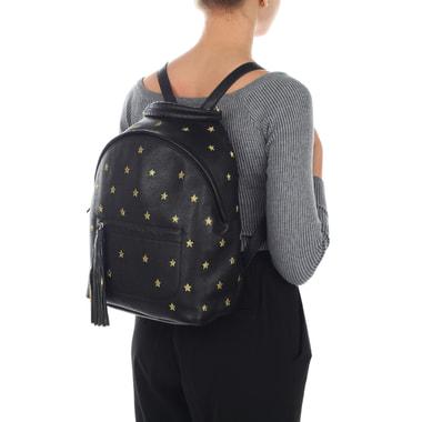 Женский кожаный рюкзак с вышивкой Coccinelle