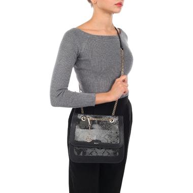 Женская кожаная сумка с выделкой под питона DKNY