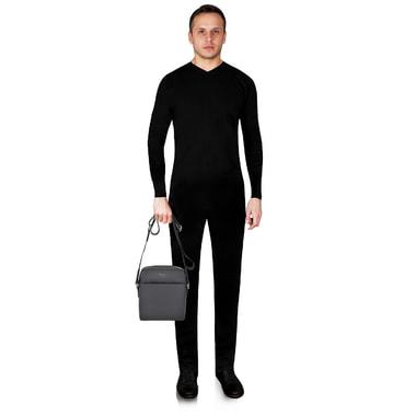 Мужская кожаная сумка через плечо Michael Kors Men