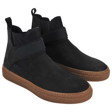 Мужские кожаные ботинки с эластичными вставками и липучкой Dino Bigioni