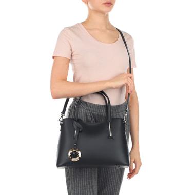 Черная женская сумка с ремешком Fabrizio Poker