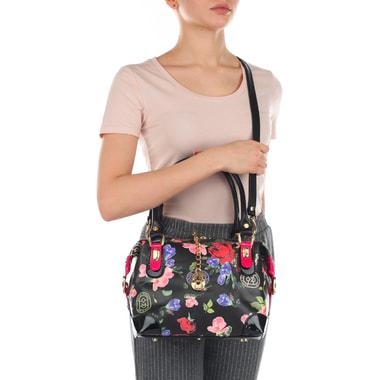 Маленькая кожаная сумочка с цветочным принтом Marino Orlandi