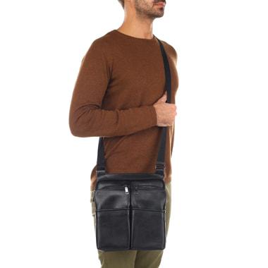 Мужская сумка через плечо из натуральной кожи Stevens