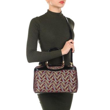 Женская замшевая сумка с принтом Gilda Tonelli
