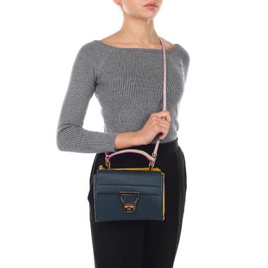 Маленькая кожаная сумка с двумя отделами Coccinelle