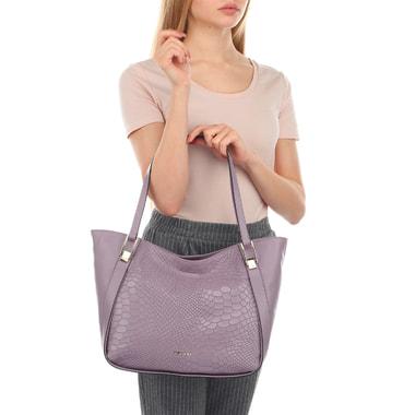 Вместительная женская сумка с отделкой под кожу питона Ripani